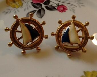Two Seafaring Earrings: Post Back
