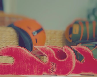 VINTAGE Snowboard longboard wakeboard racks for two boards | vintage red