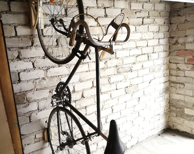 Featured listing image: BIKE RACK, by HOLD, hand made, universal vertical bike holder,
