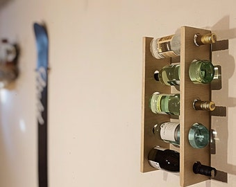 WINE WALL RACK | rack for 5 wine bottles | wall rack for five wine bottles