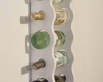 WINE WALL RACK | rack for 5 wine bottles | wall rack for five wine bottles | white