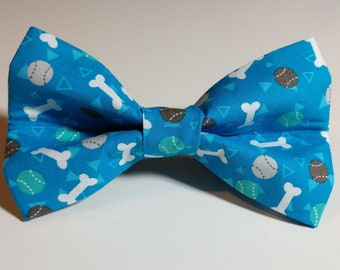 6578fac08f91 Dog's Dream Bow Tie - Tennis Balls and Bones