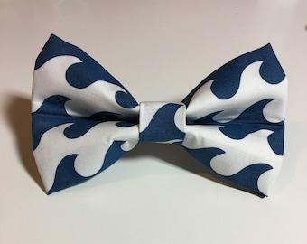 Big Waves Dog Bow Tie