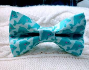 Dolphin Dog Bow Tie