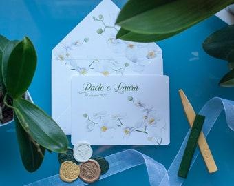 Phalenopsis invitations card