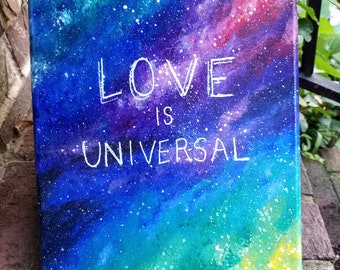 Gay Pride LGBTQIA Acrylic Painting on Canvas, Wall Hanging Art