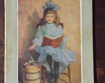 Vintage 1907 ice cream recipe booklet - hand cranked