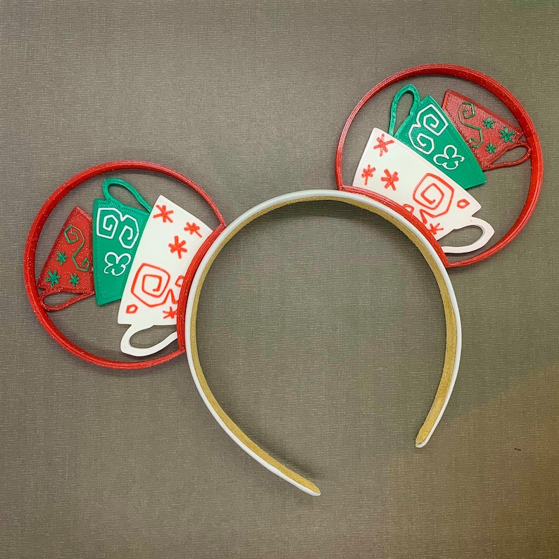 Christmas Teacups 3D Printed Mouse Ears image 0