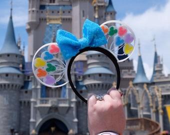 Rainbow Mouse Head Balloons 3D Printed Mouse Ears