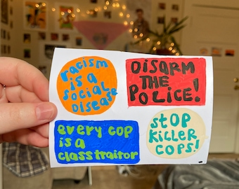 F*ck this sh!t Disarm the Police poster letterpress wood type protest print
