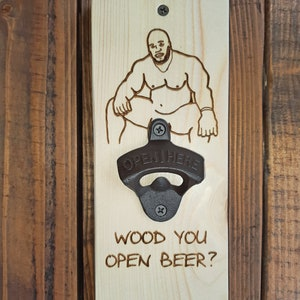 Clearance The Easter Barry Wood Titanium Bottle Opener