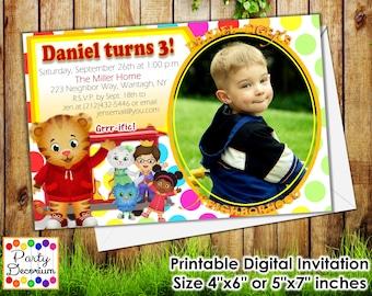 Daniel Tiger Invitation - Printable