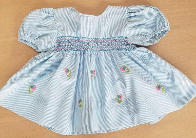 Infant Girls Mom /& Me Red Santa Hand Smocked Dress Size 3 Months 18 Months