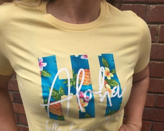 Aloha Hawaii Ladies Short Sleeve T-Shirt