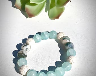 Essential Oil Diffuser Bracelets/Aromatherapy Bracelets/Stress Reliever/Lava Beads/Anxiety Reliever Bracelets/Gifts for Her/Diffuser