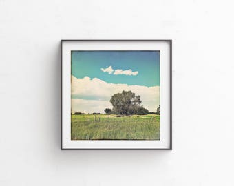 "Tree, Vintage, Cloud Print, Vintage Art, Printable Art, Photograph, Large Art, Print, Landscape Photography, Instant ""Story Book Summer"""