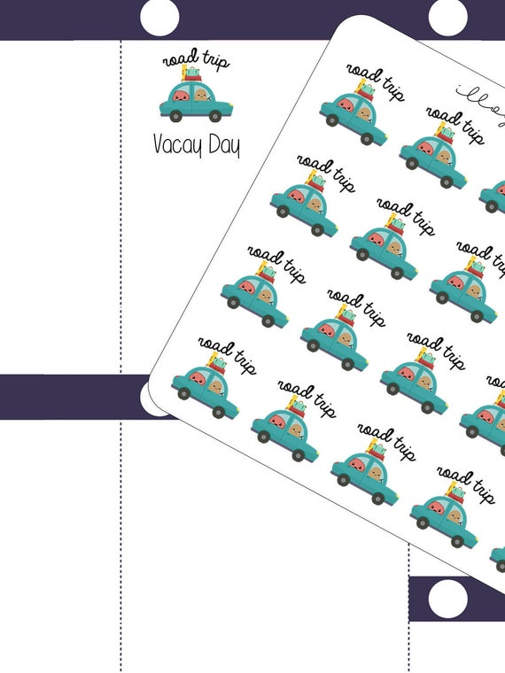 road trip planner stickers stickers spud and rosie stickers etsy
