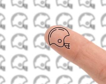 MINI 36 CLEAR Football Helmet Planner Sticker // Sports Sticker Sheet // Erin Condren // Kikki K // Boju Stickers