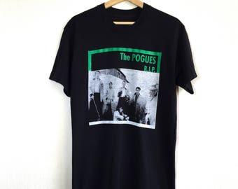 THE POGUES Skull /& Crossbones /& Shamrocks T SHIRT Irish Punk Music Tribute Tee