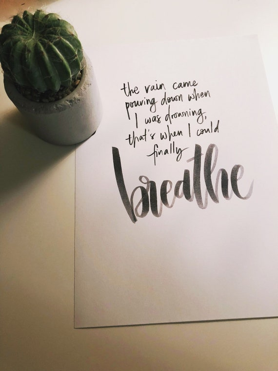 Handmade Ink Print Quote A4 Poster Taylor Swift Hand Brush Etsy