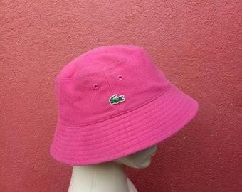 Rare vintage Lacoste Reversible buckets hat cap 3a7d1dda7359