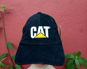8c566487bb0 Rare Vintage Caterpillar hat cap
