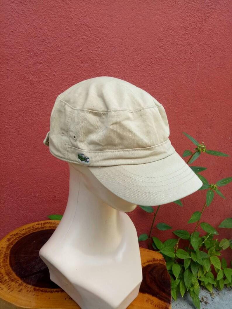 45bb7e25155c2 Rare vintage Lacoste chapeau Bonnet gros logo chapeau les | Etsy