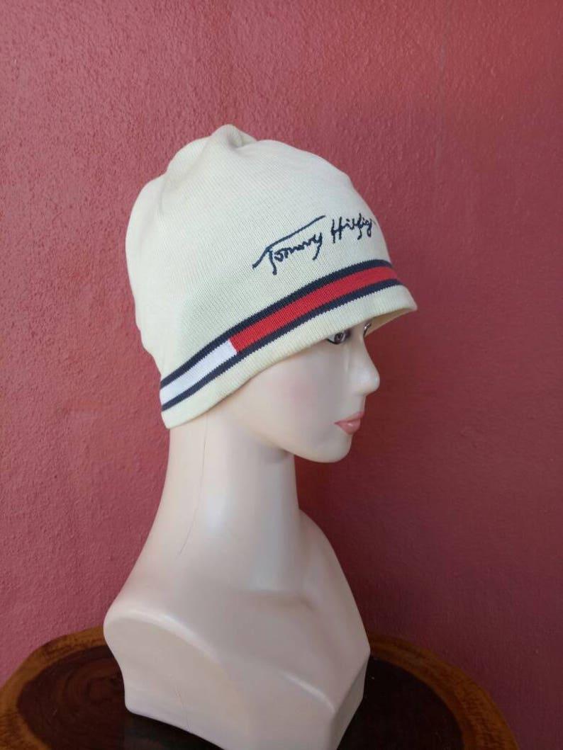 9e5176209f5772 Rare Vintage Tommy Hilfiger snow cap winter cap style Ski | Etsy