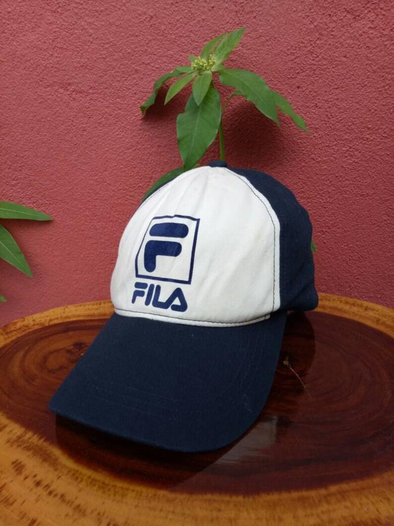 4e5c6fd9dd9 Rare vintage FILA hat cap fila bj Big logo summer styles