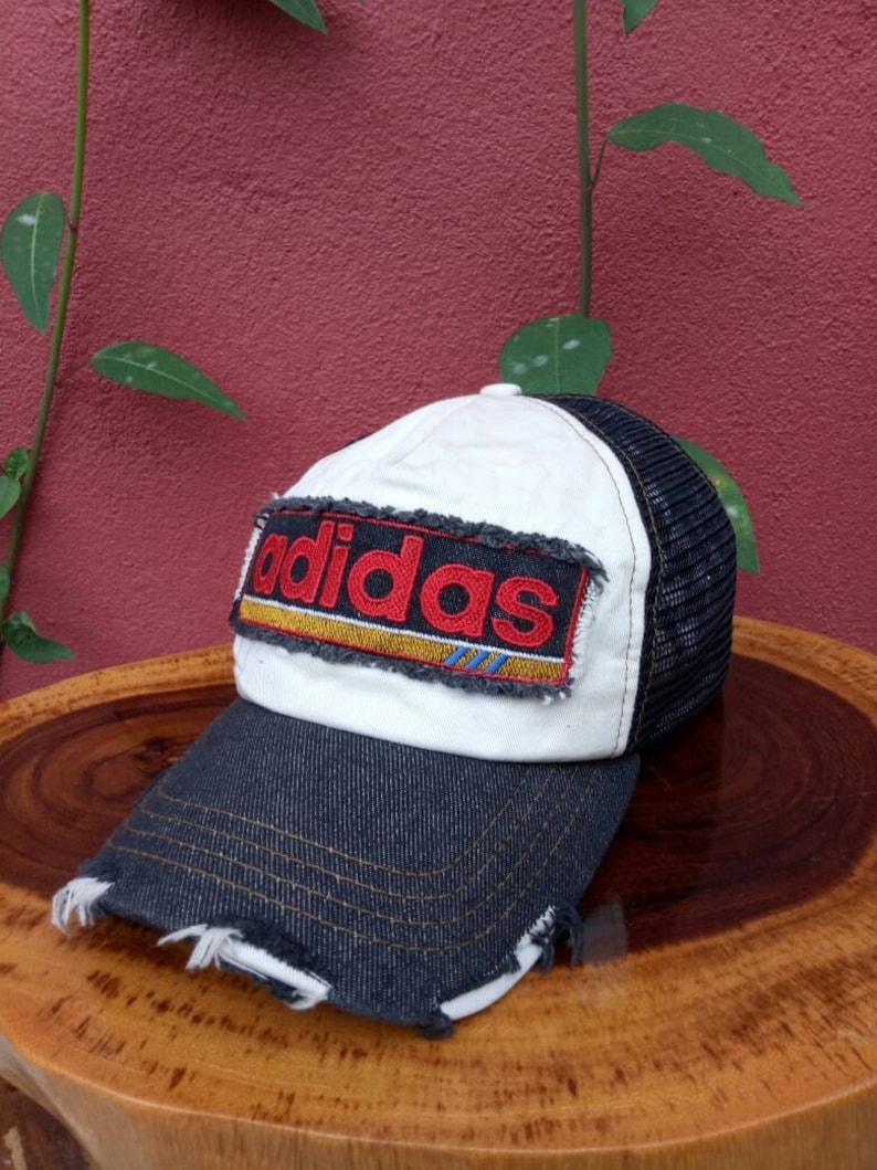 824a709e3e550 Rare vintage Adidas rainbow hat/cap, Adidas jacket, adidas rainbow, summer  styles, vintage style, basketball hat, tennis cap