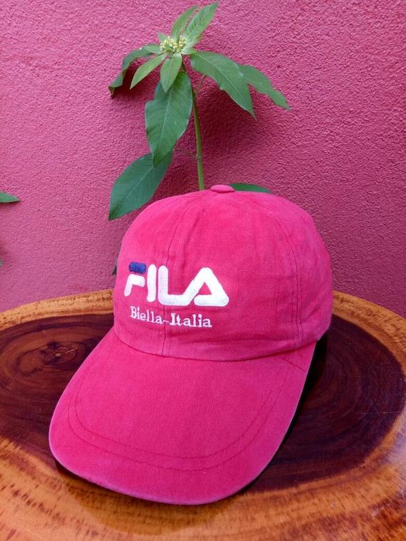 Vintage FILA BIELLA ITALIA hat cap big logo summer styles  c488baddf7b5