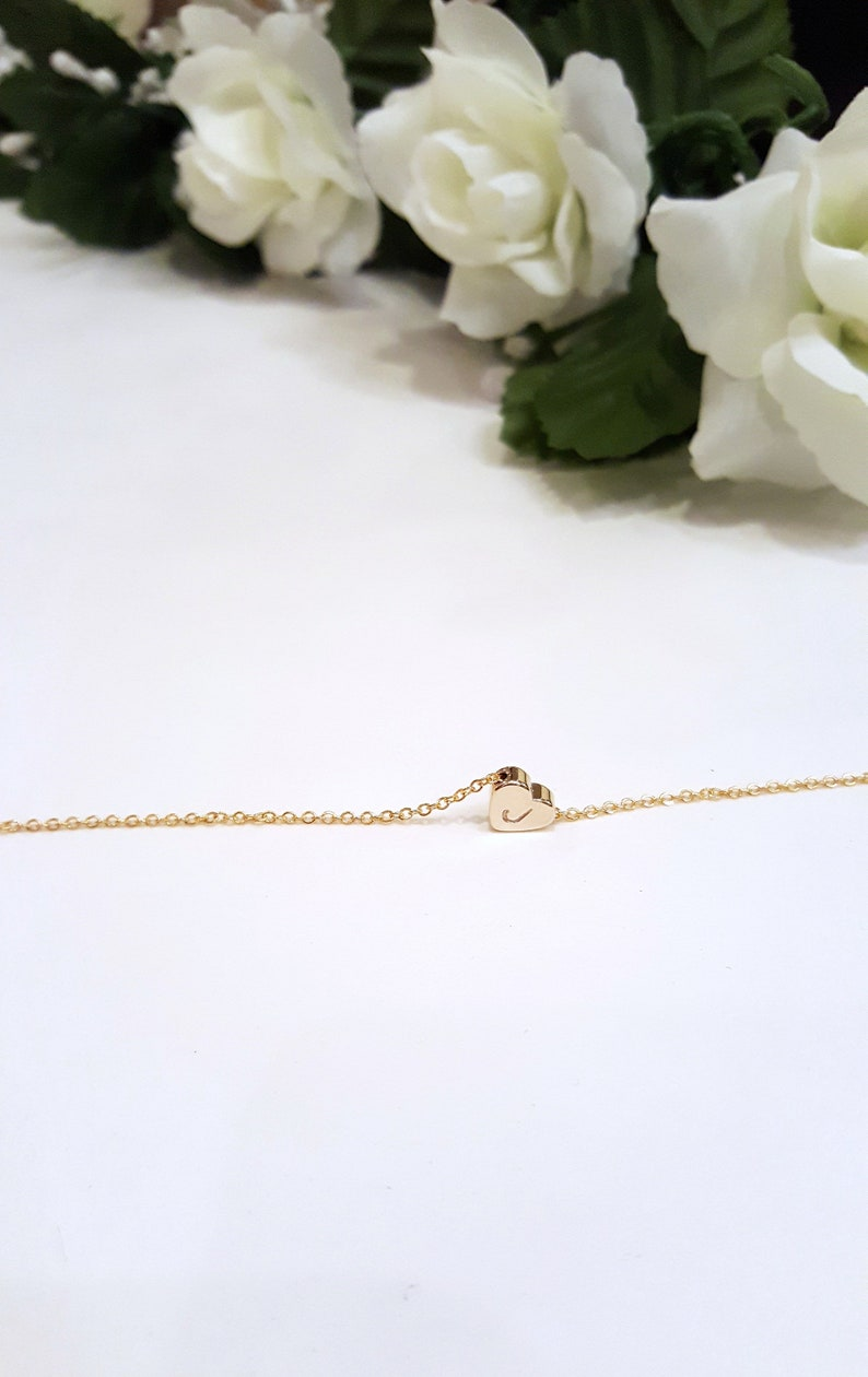 Birthday Gift Necklace \u2022 Small Heart Initial Necklace \u2022 Gift for Woman \u2022 Meaningful Gift \u2022 Happy Birthday To My All Time Favorite Human