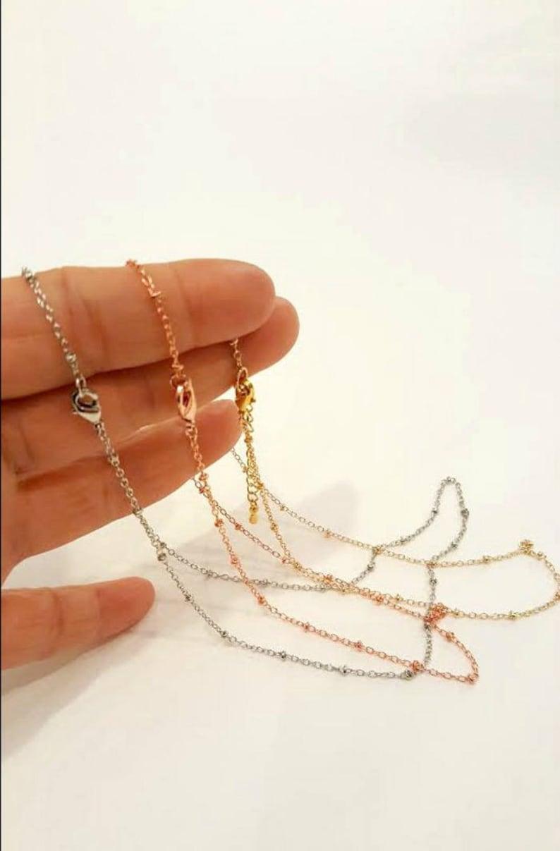 Silver Choker Dew Drops Choker Dainty Gold Choker Minimalist Choker Gold Satellite Chain choker  Simple Choker Jewelry  Rose Gold