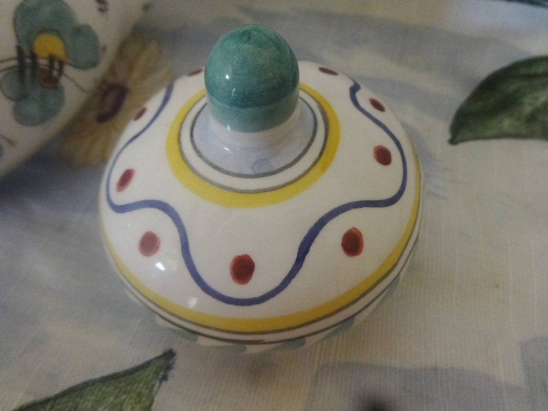 Maioliche Il Bargello Hand Painted Teapot with Chicken