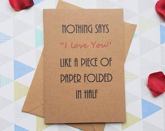 Funny love card, For husband, For wife, For boyfriend, For girlfriend, I love you card, Anniversary,  Love,  Funny card,  I love you