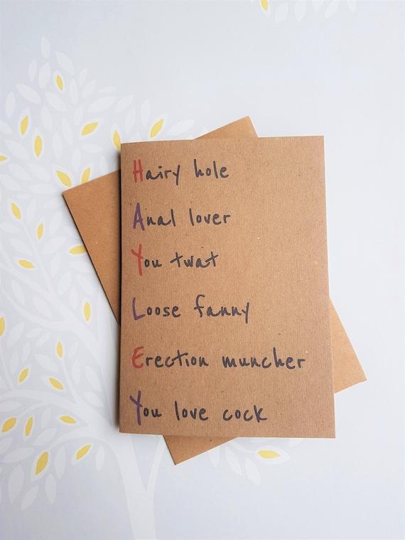 Create Your Own Card Rude Birthday Card Custom Birthday Etsy