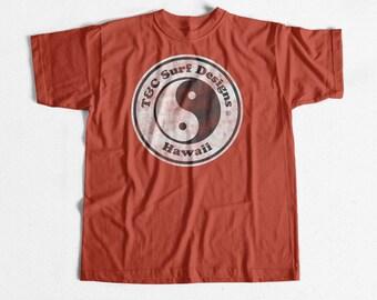 374a39d33de Vintage Surf T-shirt T c Logo Red