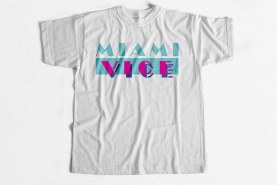 Miami Vice Unisex 80s Logo T-shirt for Adults