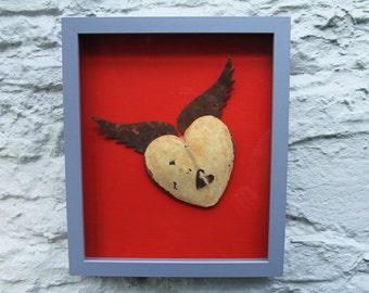 Framed Winged Heart