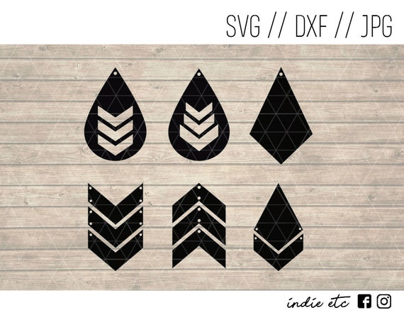 Download Earring Digital Art File svg dxf jpeg Perfect for Leather ...