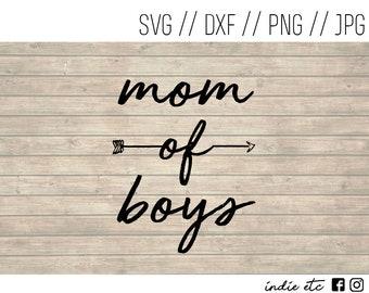 Mom Of Boys Digital Art File (svg, dxf, png, jpeg)