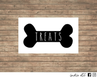 Pet Treats Vinyl Decal - Choose Your Color and Size