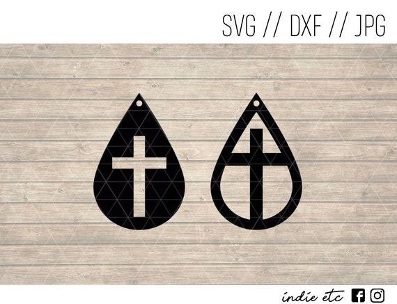 Cross Earring Digital Art File Svg Dxf Jpeg Perfect For Etsy