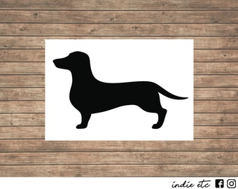 Dachshund Dog Vinyl Decal - Choose Your Color and Size
