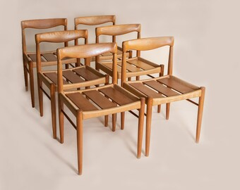 H W Klein for Bramin dining chairs, set of six danish dining chairs