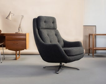 Vintage Overman of Sweden swivel chair, 1970s