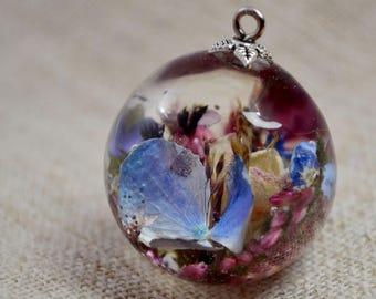 Terrarium necklace Nature resin Jewelry Botanical jewelry Terrarium jewelry Botanical resin necklace  Nature jewelry Forest jewelry