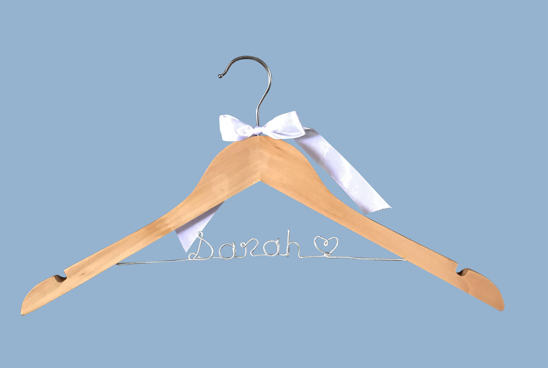 Name Wooden Coat Hanger Personalised Dress Coat Hanger
