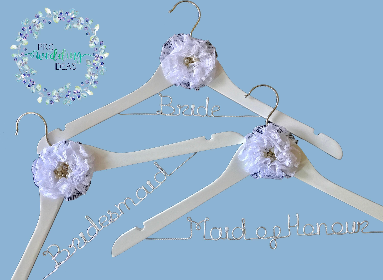 Personalised 3 Pcs Set Bridal Coat Hangers | Etsy