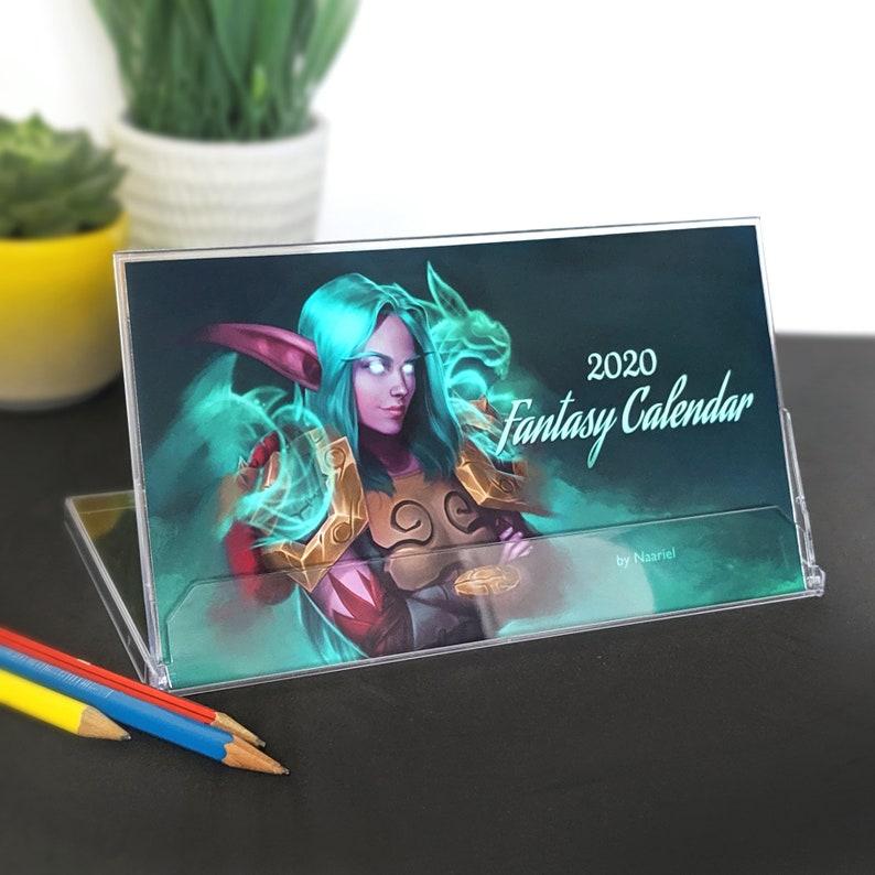 Naariel's 2020 Fantasy Desk Calendar image 0